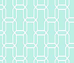 bricks_vertical_torqouise fabric by ravynka on Spoonflower - custom fabric