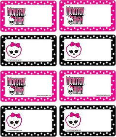 Etiquettes Monster High