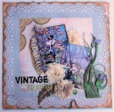 Layout featuring Kaisercraft papers, Hampton Art Stamps, May Arts Ribbons, Wow Embssing Powders, Twiddleybitz chipboard by Gini Williams Cagle
