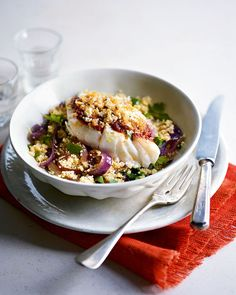 Our healthy fish recipes are inspired by dishes from around the globe, including harissa cod, filling fish curries, zesty Asian dishes and some simple midweek suppers.