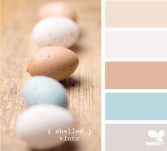 { shelled tints } #colourscheme #colourpalette