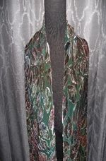 Hand painted silk scarf  ~ GREEN LEAVES TLT12 $35
