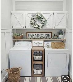 """@photoshabby on Instagram: """"Chi non desidera avere una laundry room??? 🤩🤩 Io ne ho una ma il mio sogno è renderla organizzata e bella da vedere 😍 come una di queste...…"""""""
