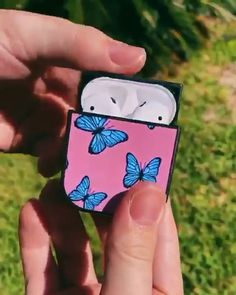 aesthetic videos Butterfly AirPod case for Airpods 🦋💗 Cute Cases, Cute Phone Cases, Diy Phone Case, Iphone Phone Cases, Iphone 11, Unique Gadgets, Gadgets And Gizmos, Spy Gadgets, Cooking Gadgets