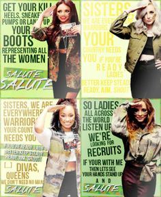 Words for female warriors from Little Mix