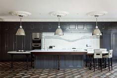 Неоклассическая серая кухня #кухня #неоклассическийстиль #серый