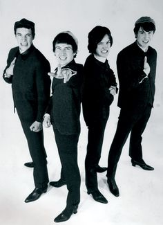 The Kinks 1964. Left to right: Mick Avory, Pete Quaife, Dave Davies and Ray Davies.