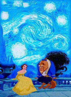 Love the background. Disney meets Van Gough.