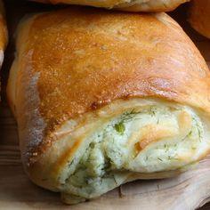 Bryndzové koláčiky Bread, Food, Meal, Essen, Hoods, Breads, Meals, Sandwich Loaf, Eten