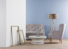 Paper, Olive and Sky paint with Wilmot sofa and armchair #Habitat