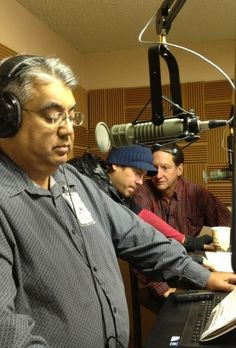 Jim Halks shared this picture of the radio station interview with #ChristianKane and other members of the #50to1themovietour 3-19-2014 New Mexico