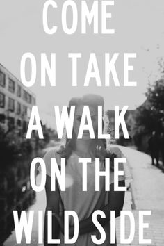 Come on take a walk on the wild side 2013 let's go