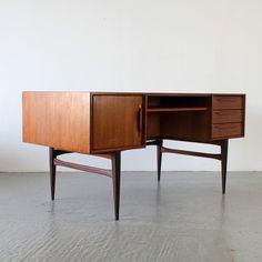 Teak Schreibtisch 60er Denmark | Midcentury 50s 60s Danish Teakwood Writing Desk