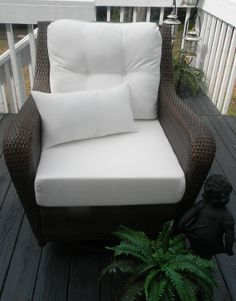 Indoor / Outdoor Deep Seating Chair Cushion By PillowsCushionsOhMy, $149.99  Cushion Fabric, Cushion Pillow