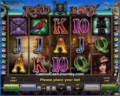 Are you a fan of pirates? Astra Games and Novomatic has a fresh 10-line Red Lady that goes well with the sea hunters. The game also comes with a promising Free Games bonus at the beginning of which Special Expanding Symbol will be drawn to increase your winning chances even more.  More this way...  http://www.casinocashjourney.com/slots/novomatic/red-lady.htm