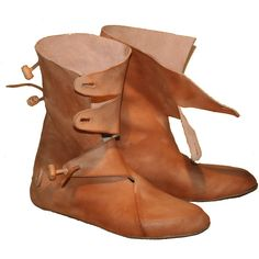 viking boots ❤ liked on Polyvore featuring shoes, boots, medieval and viking