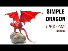 Origami Simple Dragon Tutorial (Shuki Kato) 折り紙 単純なドラゴン оригами Einfacher Drache Origami Butterfly, Paper Crafts Origami, Oragami, Origami Simple, Useful Origami, Fun Origami, Origami Design, Origami Instructions, Origami Tutorial