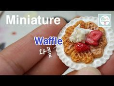 Miniature Heart Waffles polymer clay tutorial eng/sub