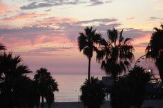 Sunset, Santa Monica pier from Santa Monica Loew's, California 2009