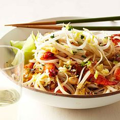 MyRecipes recommends that you make this Quick Shrimp Pad Thai recipe from Food & Wine