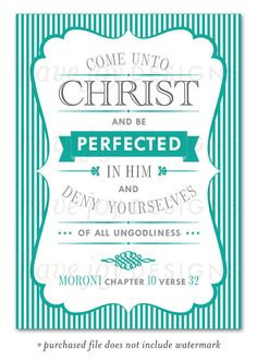 Come Unto Christ and Be Perfected in Him 2014 LDS by havejoy