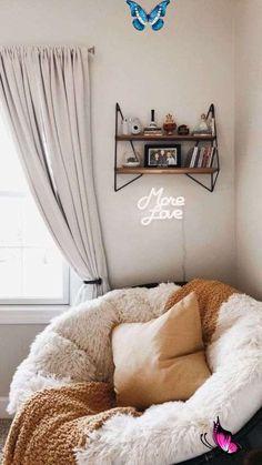 Cozy Corner // Accents + Items  <br> Cute Room Decor, Cheap Room Decor, Decoration Bedroom, Diy Wall Decor For Bedroom, Modern Bedroom Decor, Modern Room, Aesthetic Room Decor, Sun Aesthetic, Aesthetic Fashion