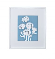 Add a touch of #Spring to your home. This gorgeous dusky blue is trending this season and contrasts beautifully against the white papercut Cornflower. A fabulous original print that can brighten up any wall.