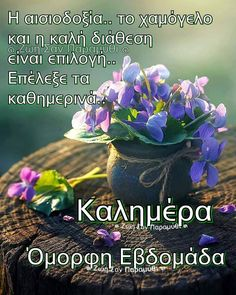 Good Morning Picture, Morning Pictures, Good Morning Images Download, Good Afternoon, Greek Quotes, Special People, Good Night, Instagram Posts, Plants