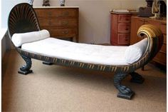 Regency Daybed in the manner of Thomas Hope with crocodile legs inspired by the 'Battle of the Ni
