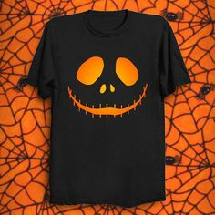 Dan-Wood Halloween Scary Evil Pumpkin Jack O Lantern Youth Kids T-Shirts Cotton Fashion Graphic Print Tee