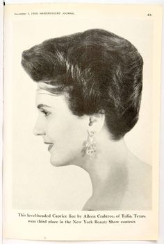 Astounding Vintage Womens Hairstyle From Hj Dating Back To The 1950S Hairstyles For Women Draintrainus