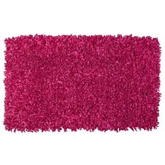 Bright Shag Scatter Rug in Deep Pink. An amazing way to add an extra pop of color to your room while offering a soft, comfy spot to rest on and do homework or listen to some music to relax! (: #DreamDormOCM