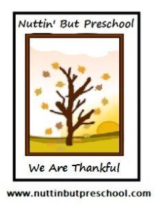 We Are Thankful Theme Preschool Lesson Plan Theme