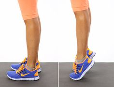 Calf Raises — Basic: Raising the heels destabilizes your ankle joints. Not only are you strengthening your calves with this exercise, but you're also challenging the muscles that support the ankle joint. Just one of the many exercises we do in class!