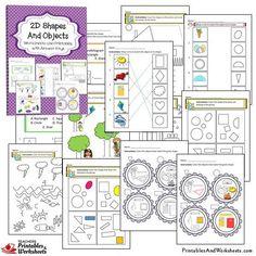 and Shapes Worksheets Bundle - Printables & Worksheets 3d Shapes Worksheets, Kindergarten Math Worksheets, Printable Worksheets, Maths, Printables, Geometric Shapes Drawing, 2d And 3d Shapes, Math Exercises, 2nd Grade Math