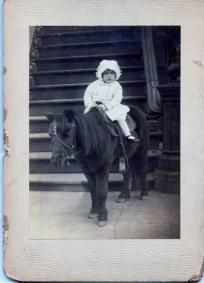Vintage Photo Young Girl on a Horse abt 1914