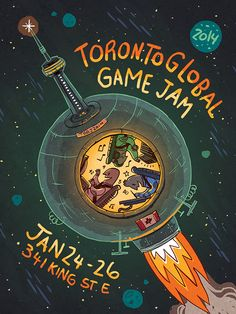 toronto global game jam - Google Search Event Poster Template, Toronto, Templates, Google Search, Games, Movie Posters, Art, Art Background, Stencils