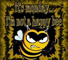 I'm Not A Happy Bee! Monday Greeting