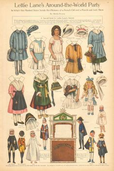 FRANCIA Lettie Lane Paper Doll by Sheila Young The Punch Judy Show 1911 Art Print | eBay