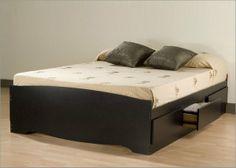 bed frame designs | Platform Bed Frame Queen Plans