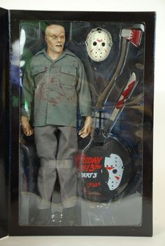 MIB Sideshow Jason Voorhees Action Figure 12 Inch Friday The Part 3 for sale online Friday The 13th Toys, Jason Voorhees Action Figure, Best Funko Pop, Horror Action Figures, Classic Horror Movies, Halloween Horror, Sideshow, Classic Toys, Cool Toys