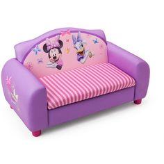 Disney Upholstered Sofa with Storage - Minnie, Beige