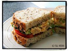Full vedge - Recettes végétariennes et gourmandes!: Garniture aux pois chiches pour sandwiches