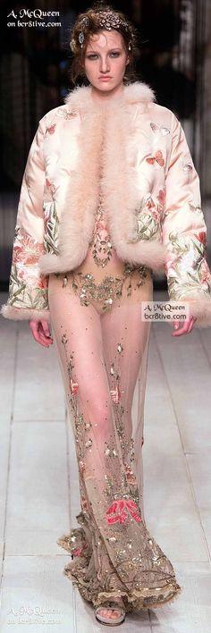 Boudoir Styled Bed Jacket & Gown - The Best of Alexander McQueen 2016