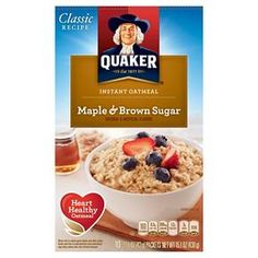 The wholesome goodness of Quaker Oats packed with the rich tastes of maple and brown sugar Instant Oatmeal. Just because you've got a busy day doesn't mean you don't deserve all the goodness Quaker has to offer.