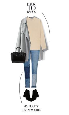 """back to the basics 1"" by vivielle-1 ❤ liked on Polyvore featuring Topshop, Willy Chavarria, Franco Sarto and Givenchy"