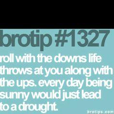 I love my bro tips!