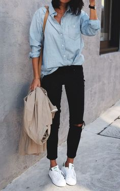 style Casual girl - 20 Clothing Essentials That Every College Girl Needs Fancy Casual Outfits, Summer Outfits, Style Casual, Casual Wear, Cheap Outfits, Winter Outfits, Spring Outfits Women Casual, Basic Outfits, Casual Street Style