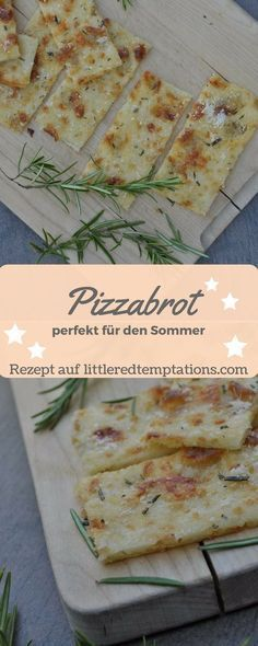 {Spontaneous guests} Crunchy last-minute pizza bread - little.- {Spontane Gäste} Knuspriges Last-Minute-Pizzabrot – little. this pizza bread is made quickly and easily. Perfect for summer! Pizza Recipes, Bread Recipes, Dinner Recipes, Snacks Recipes, Pizza Snacks, Pizza Pizza, Pain Pizza, Party Snacks, Summer Recipes