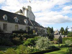 gardens at Traquair House, Scotland